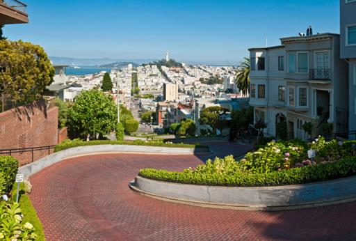 Lombard Street at San Francisco, California